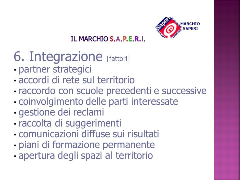 6. Integrazione [fattori]